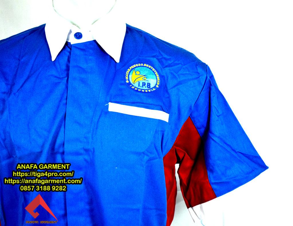 Konveksi Pembuatan Baju Seragam Kerja Bordir Bahan Drill