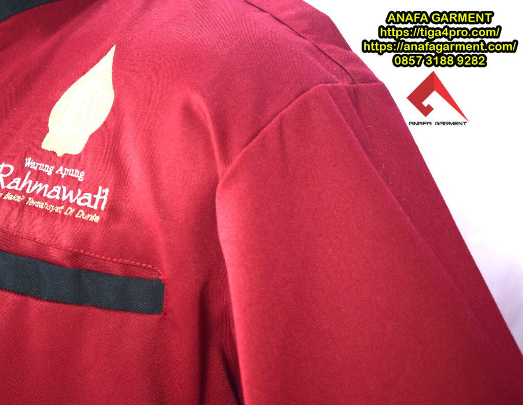 Seragam Karyawan Rumah Makan Rahmawati Anafa Garment Konveksi Detail 1