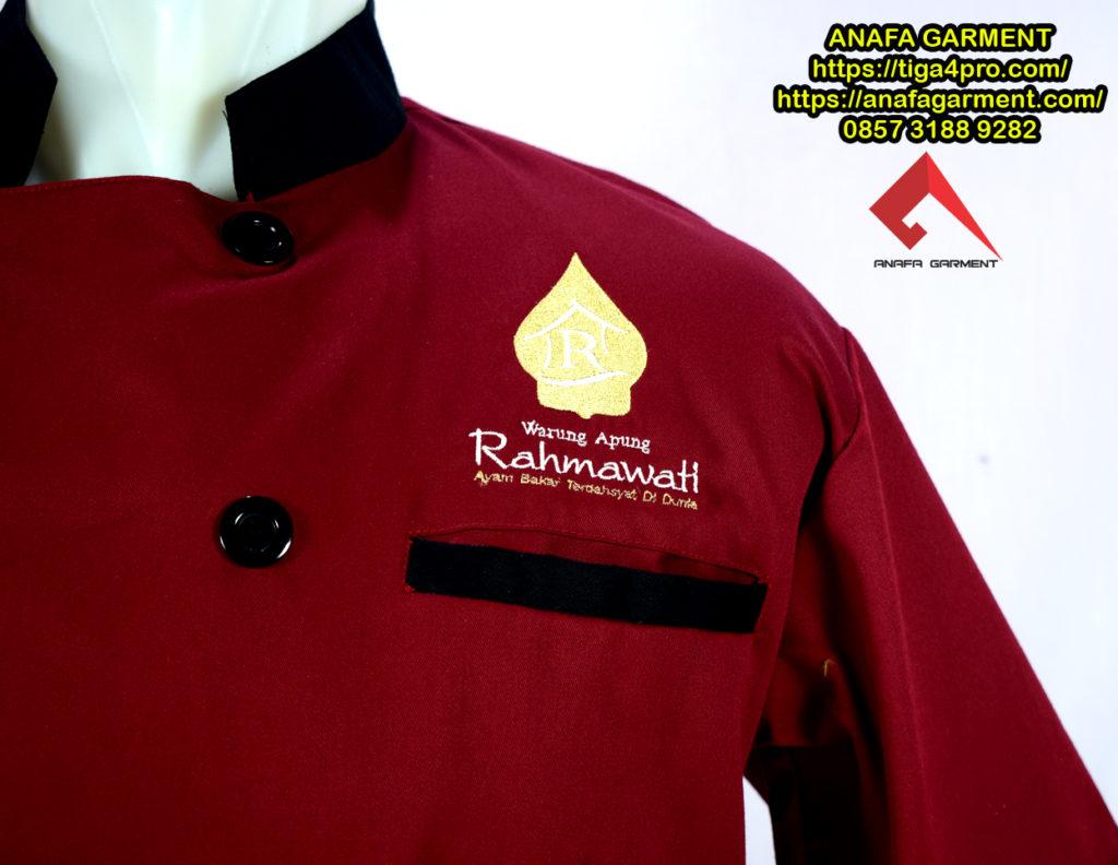 Seragam Karyawan Rumah Makan Rahmawati Anafa Garment Konveksi Detail 2